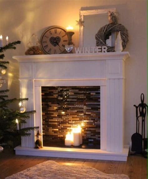Diy Faux Fireplace With Candles